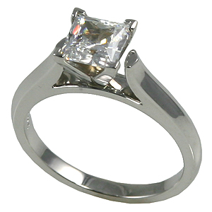 Platinum Cathedral Engagement CZ Cubic Zirconia Ring Wedding Set - Product Image
