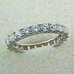 14k White Gold CZ/Cubic Zirconia Eternity Ring / Wedding Band  - Product Image