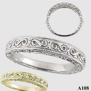sterling silver antique fancy wedding band ring cubic