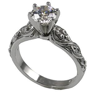 14k gold lotus crest antique wedding set cubic zirconia rings cubic zirconia jewelry cz rings in 14k gold engagement ring - Wedding Set Rings