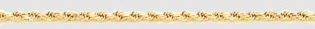 14k Gold Diamond Cut Rope Chain 3mm Necklace - Product Image