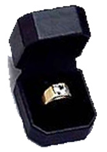 Milano Collection Single Engagement Ring Box (Jewelry Boxes) - Product Image