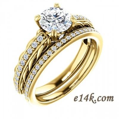 solid 14k gold antique inspired filigree style