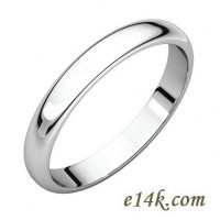 Solid Sterling Silver Classic Style Wedding Band Ring - Product Image