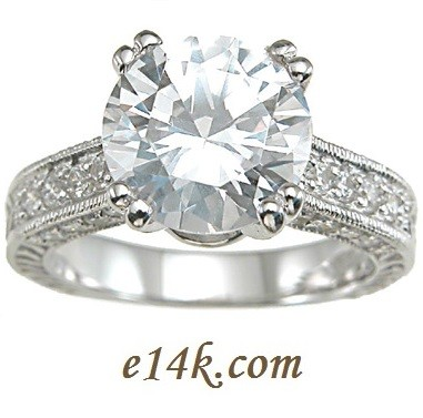 Sterling Silver 3.75cttw Round Brilliant Cubic Zirconia Solitaire CZ Ring - Product Image