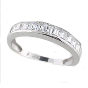 channel set white gold ring