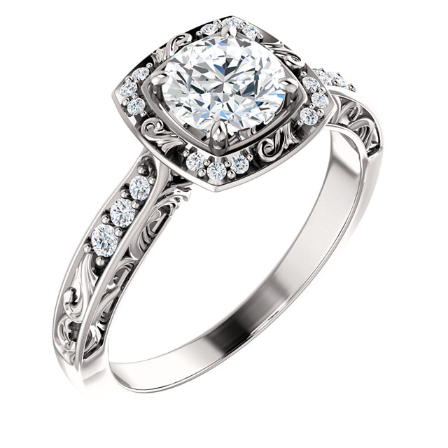 Antique Engagement Rings Wedding Bands And Jewelry In 14k Gold With Cz Cubic Zirconia
