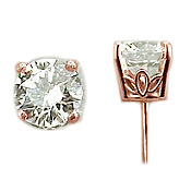 1924r 14k Rose Gold Antique Victorian Earrings