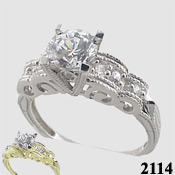 white gold, platinum, custom jewelry, cz white gold rings