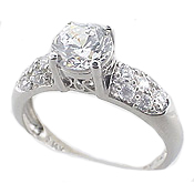 white gold cz jewelry