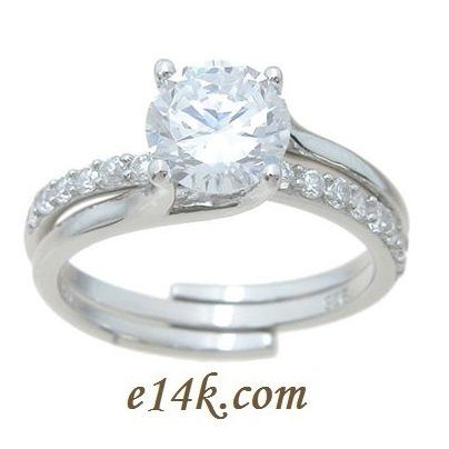 Silver Antique CZ Rings Sterling Silver Cubic Zirconia Rings and CZ