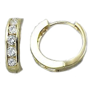 hoop earrings, 14k Gold CZ Jewelry,  Antique Jewelry styles