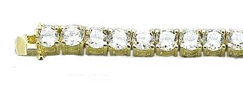 14k Gold Cz Tennis Bracelets Cubic