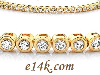 14k Gold Cz Tennis Bracelet White