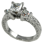 A111 Cubic Zirconia Engagement Ring