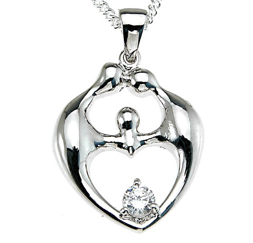 Mother's Family CZ jewelry pendant