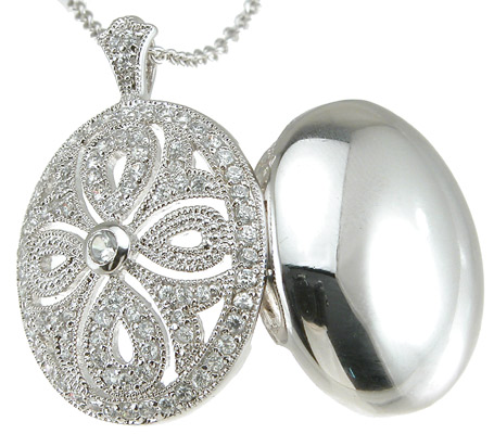 antique Locket CZ Pendant