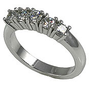 cz wedding bands, cubic zirconia wedding rings