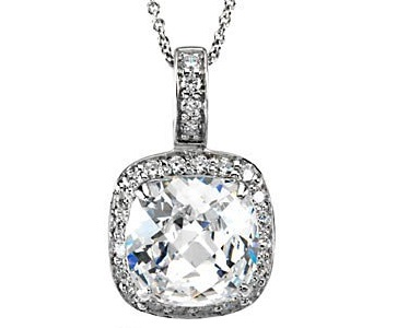 Antique Cushion cut CZ Pendant