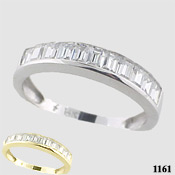 14k Gold CZ/Cubic Zirconia Baguette Anniversary Ring - Product Image