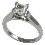Platinum Cathedral Engagement CZ Cubic Zirconia Ring Wedding Set - Product Image