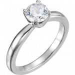 14k Gold Solstice CZ/Cubic Zirconia Solitaire Engagement Ring - Product Image