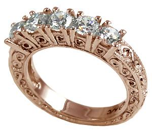 Victorian Ct Gold  Stone Diamond Ring