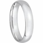 14k Solid Gold 4mm Wedding Band / Ring (heavy) - Product Image
