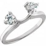 14k Solitaire CZ/Cubic Zirconia Engagement/Solitaire Ring Wrap - Product Image