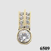 14k Gold 1.5 ct Russian CZ Cubic Zirconia Slide/Pendant - Product Image