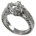 14k Gold 1ct Fancy Antique/Victorian CZ Cubic Zirconia Ring - Product Image