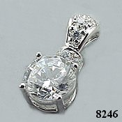 14k Gold 2.25 CTW  Fancy CZ Cubic Zirconia Pendant - Product Image