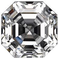Asscher Cut Loose CZ Cubic Zirconia Stone - Product Image