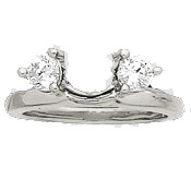 Sterling Silver Enhancer CZ/Cubic Zirconia Engagement Ring Wrap - Product Image