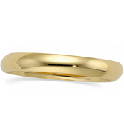 Sterling Silver 3mm Wedding Band Ring - Product Image