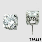 Sterling Silver 2ctw Antique/Victorian CZ Cubic Zirconia Earrings - Product Image