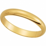 Solid 14k Gold 3mm Wedding Band Ring - Product Image