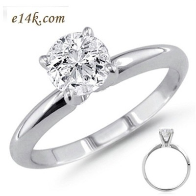 5627042a50ed45 Sterling Silver CZ Cubic Zirconia 4 Prong Solitaire Engagement Ring -  Product Image